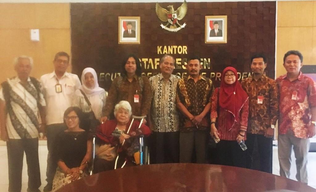 Delegasi IKOHI ketika mendatangi KSP hari Senin, 15 Oktober 2018